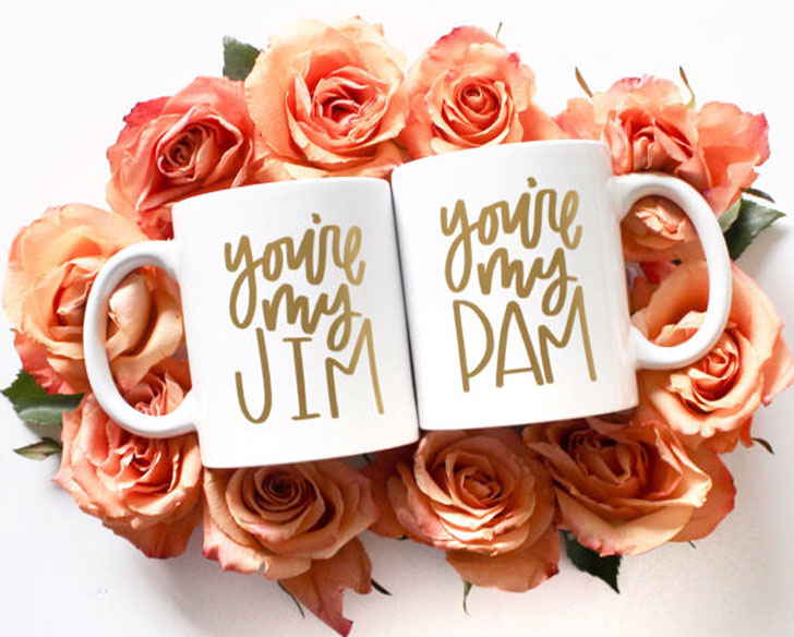 Your My Jim and Pam Couples Mugs