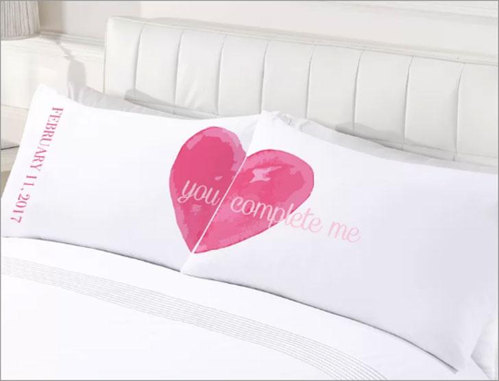 2-Piece Custom You Complete Me Couples Pillowcase Set
