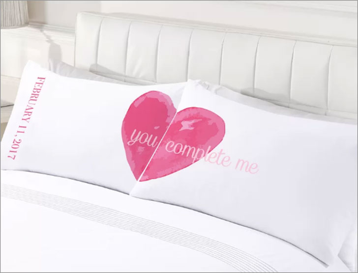 2-Piece Custom You Complete Me Couples Pillowcase Set