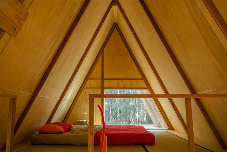 The Red A-Frame Cabin