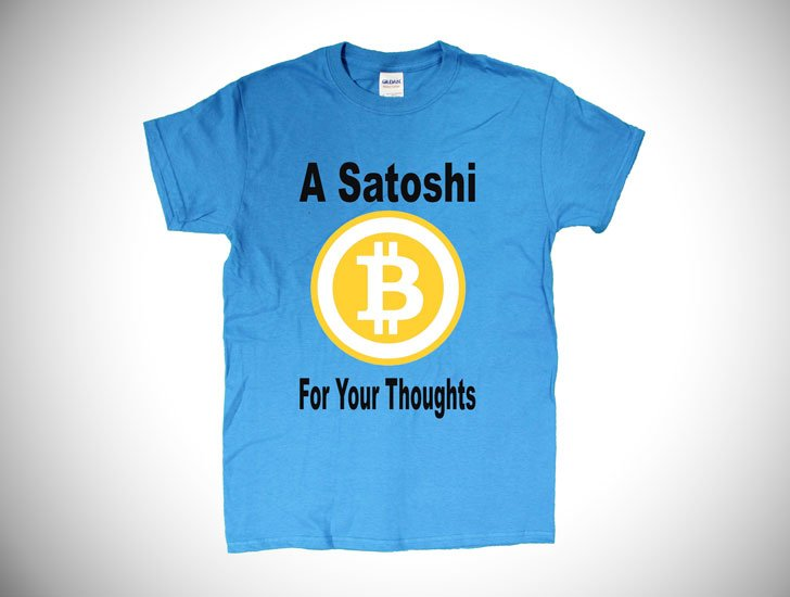 A Satoshi For Your Thoughts Bitcoin Men's T-Shirt