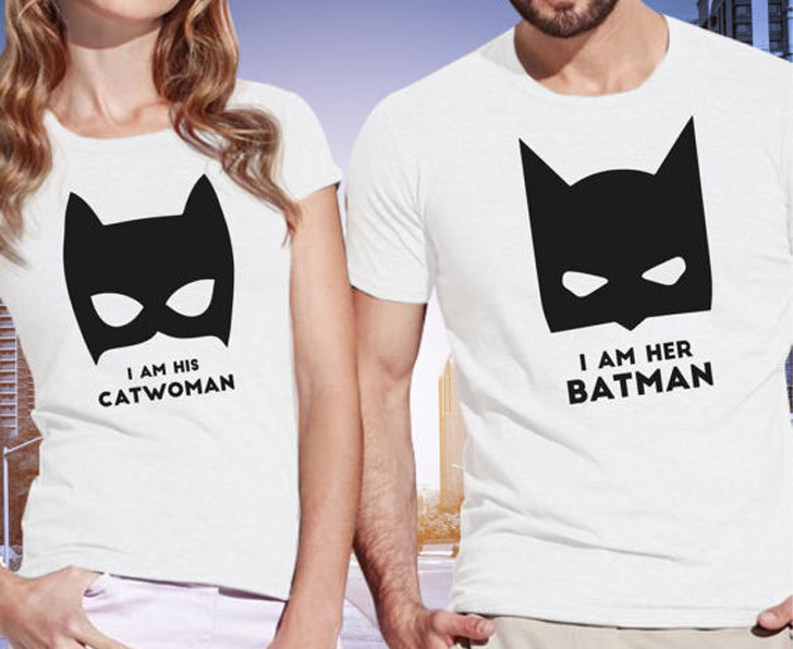 Batman And Cat Women Couple T-Shirts