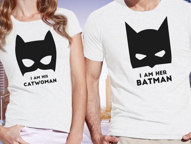 Batman and Cat Women Shirts
