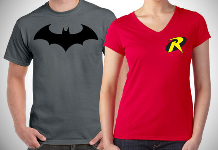 Batman and Robin Matching Couples Shirts