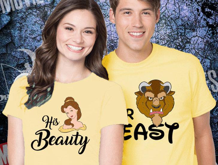 Beauty & The Beast Couples Disney T-Shirts