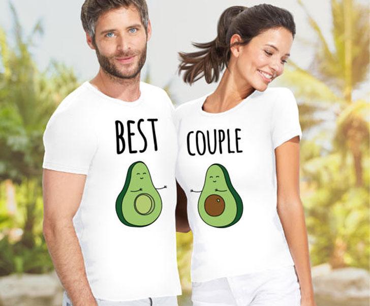 Best Couple Avocado Matching Tees