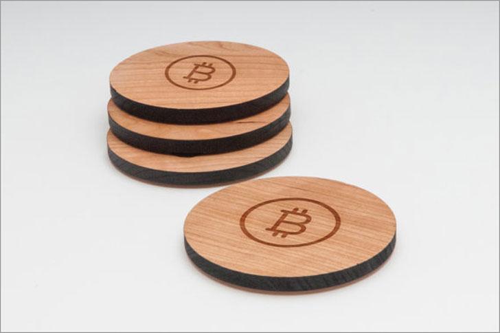 Bitcoin Coasters Set
