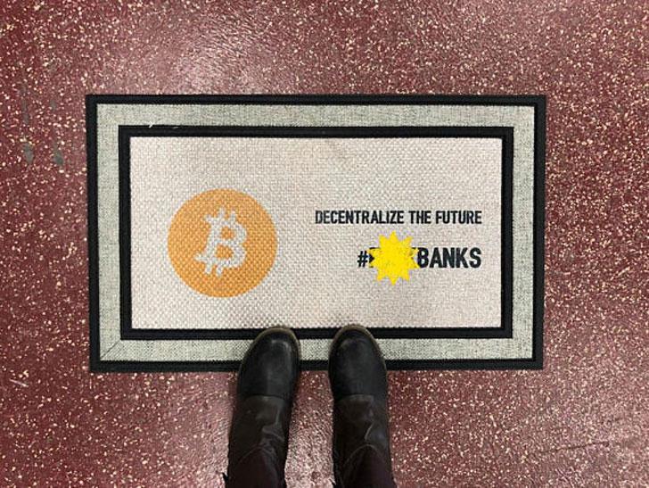 Bitcoin Door Mat