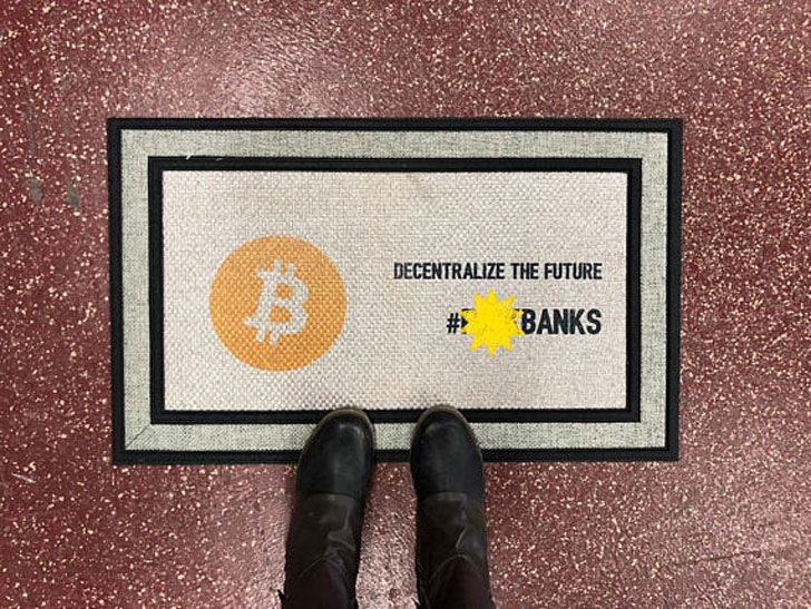 Bitcoin Door Mat