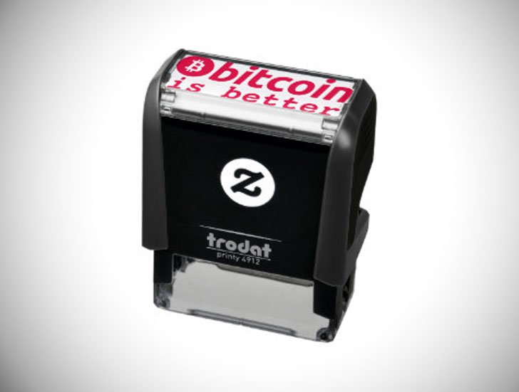 Bitcoin Is Better Cryptocurrency Ink Stamp