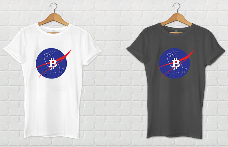 Bitcoin NASA T-Shirt