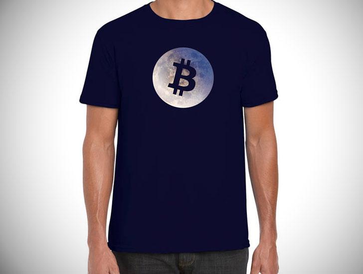 Bitcoin On the Moon T-Shirt