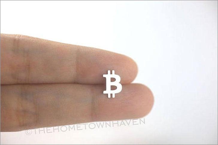Bitcoin Stud Earrings