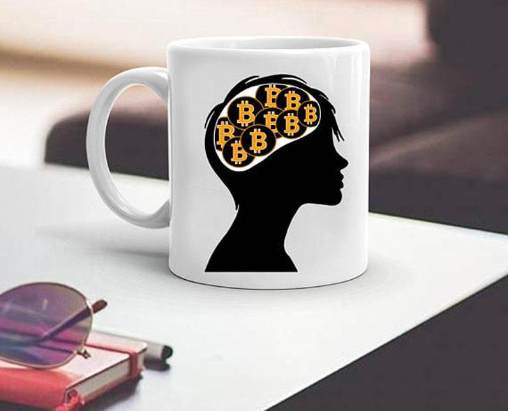 Bitcoin on the Brain Coffee Mug