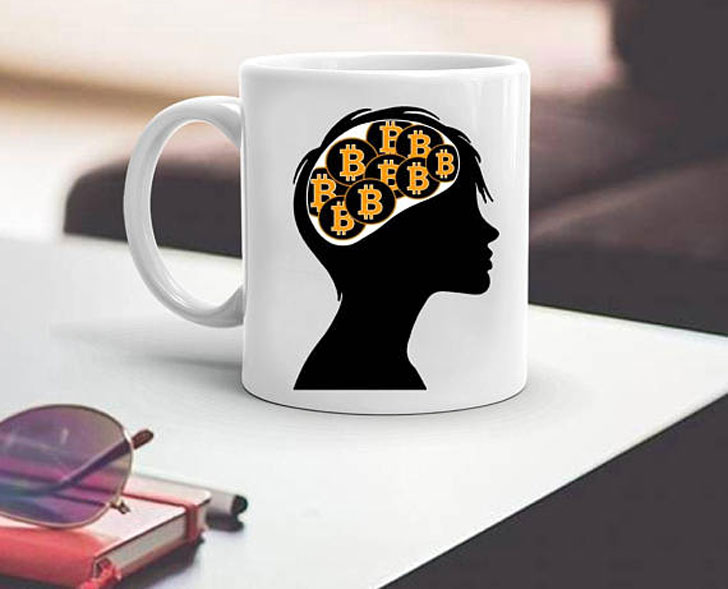 Bitcoin on the Brain Coffee Mug