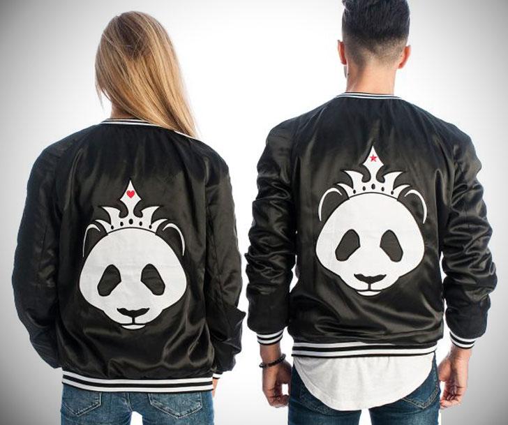 Black Panda Couples Jackets