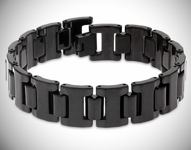 Black Tungsten Carbide 16MM Men's Link Bracelet