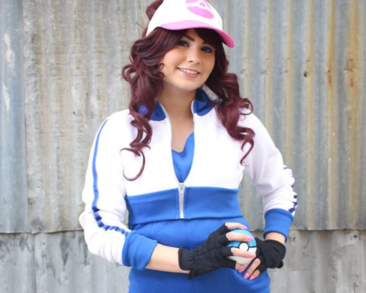 Blue Trim Pokemon GO Trainer Cosplay Costume