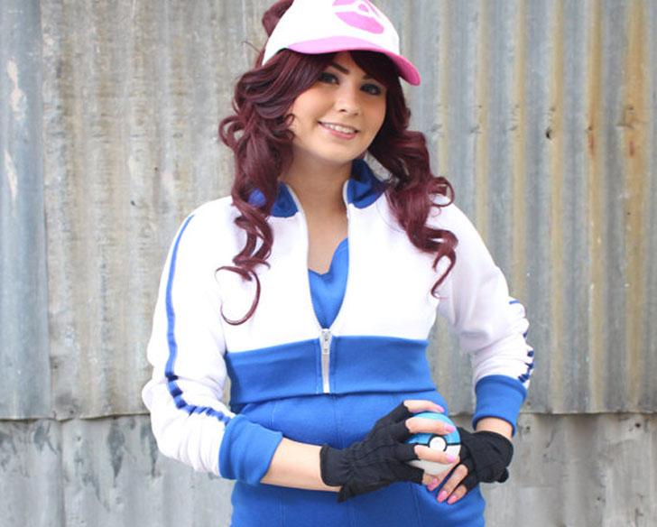 Blue Trim Pokemon GO Trainer Cosplay Costume