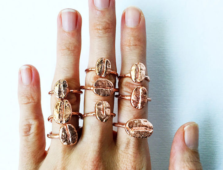 Boho Style Coffee Bean Rings - gifts for coffee lovers