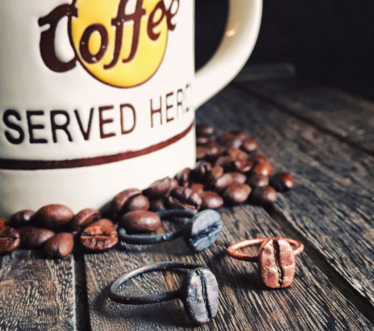 Boho Style Coffee Bean Rings