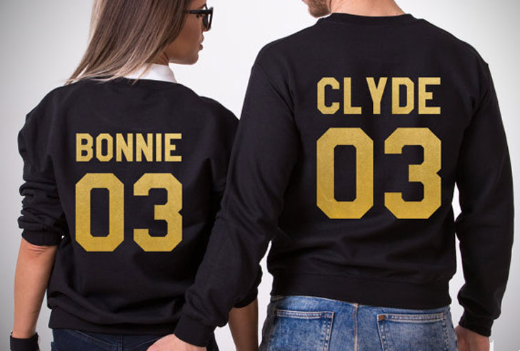 Bonnie & Clyde Couples Sweaters