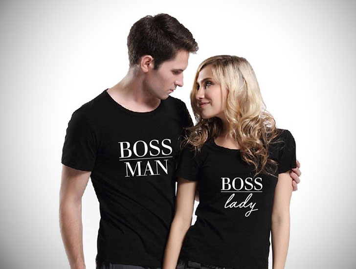 Boss Man & Lady His and Hers T-Shirts