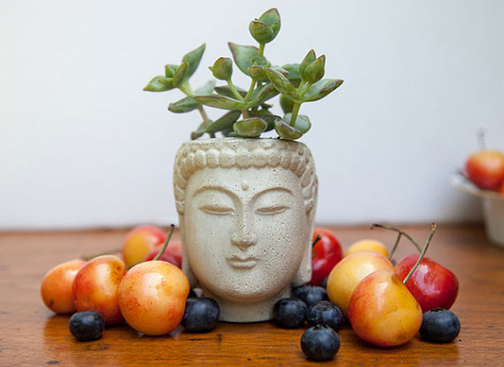 Buddha Head Planter - unique planters