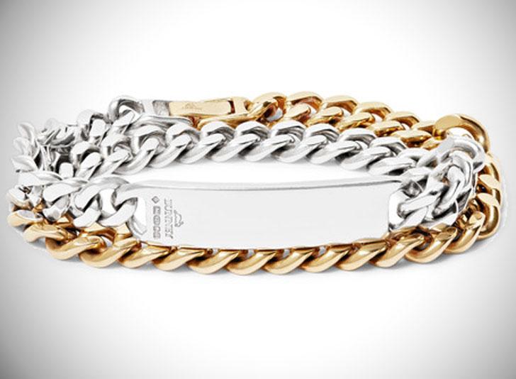 Bunney Gold-Dipped Sterling Silver ID Wrap Bracelet