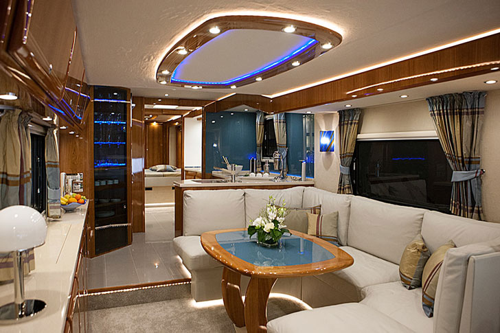 Car-Carrying Luxury Mobile Home - Awesome Stuff 365 on high-end office furniture, beautiful trailer homes, high-end boats, high-end travel trailers, high-end condos, high-end tents, high-end airstream trailers, modular homes, high-end cars, high-end sheds, modern homes,
