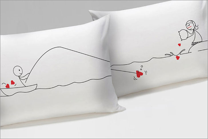 Catch My Heart His and Hers Pillowcases
