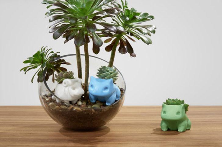 Ceramic Bulbasaur Planters