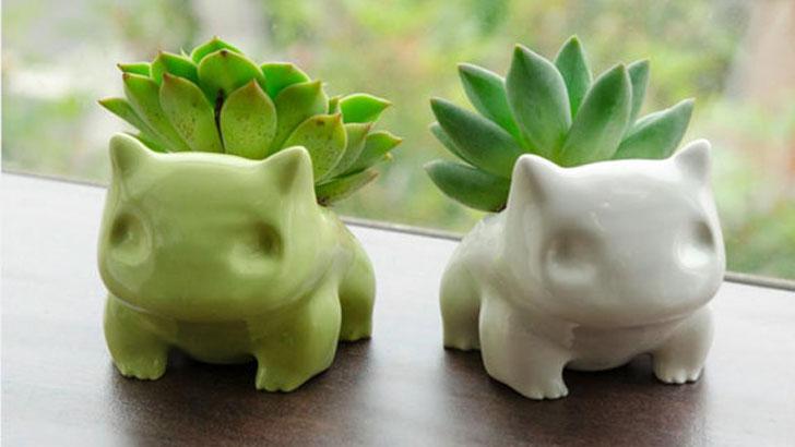 Ceramic Bulbasaur Planters - unique planters