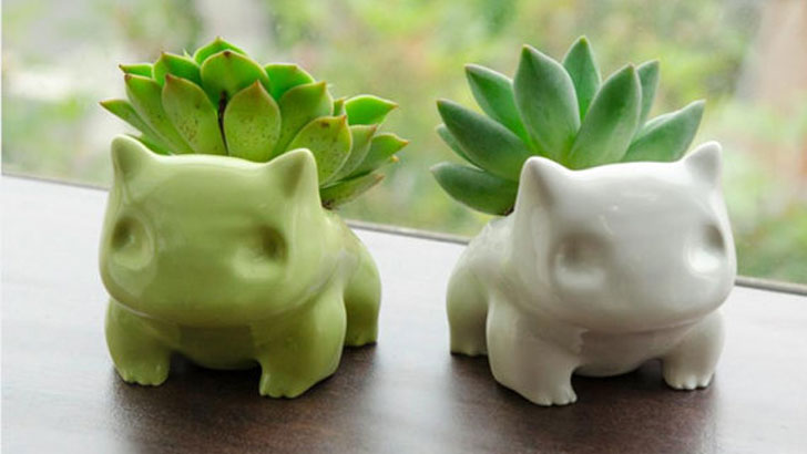 Ceramic Bulbasaur Planters - unique planters