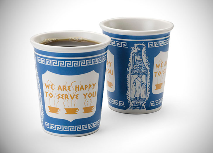 Ceramic Greek Coffee Cup