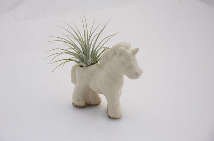 Ceramic Unicorn Planter - unique planters