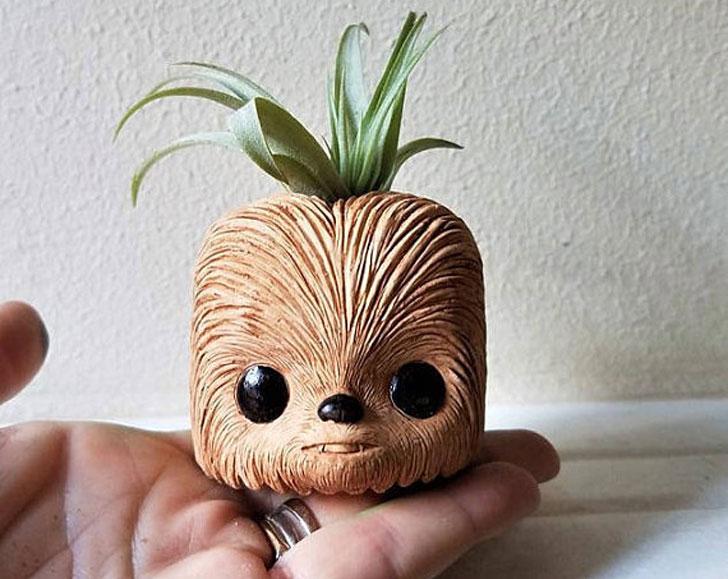 Chewbacca Planter Pot