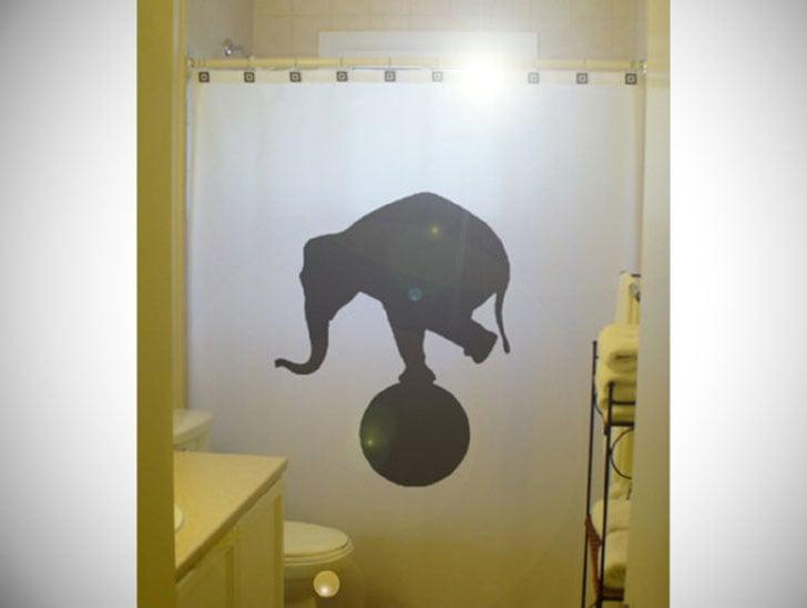 Circus Elephant Shower Curtain