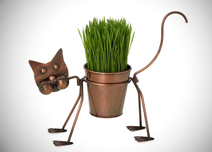 Clarissa the Curious Cat Planter