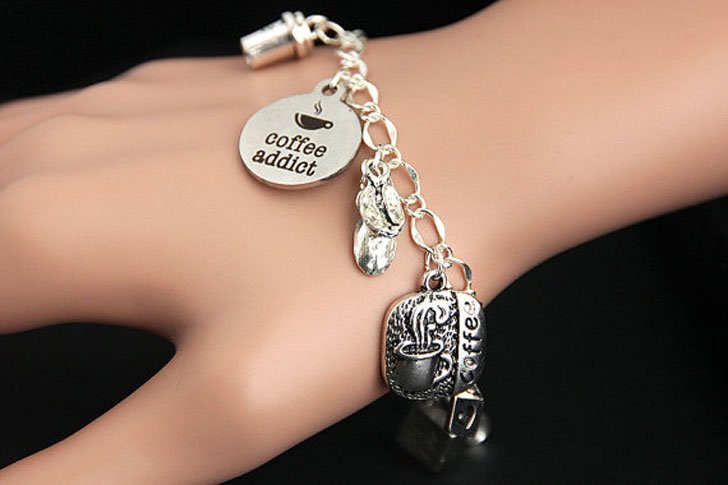 Coffee Addict Charm Bracelet