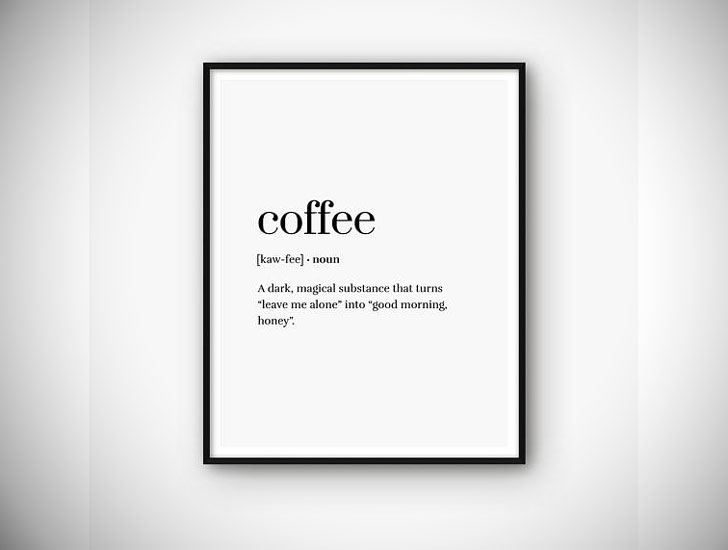 Coffee Definition Printable Print