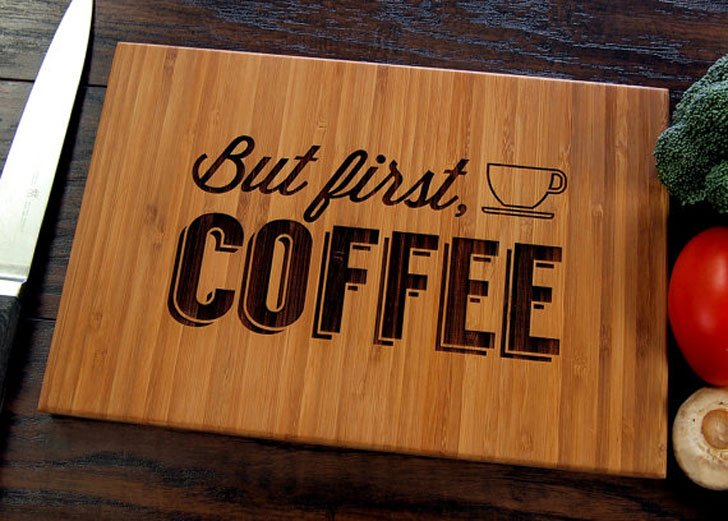 Coffee Wooden Kitchen Cutting Board - gifts for coffee lovers