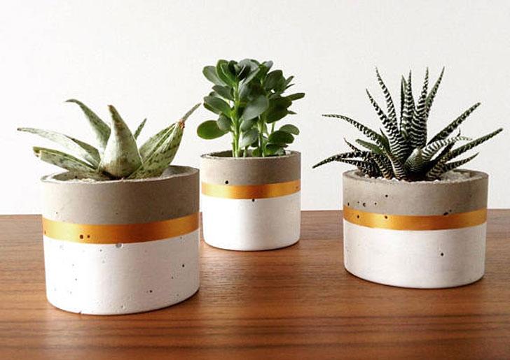 Concrete Round Cylinder Pots