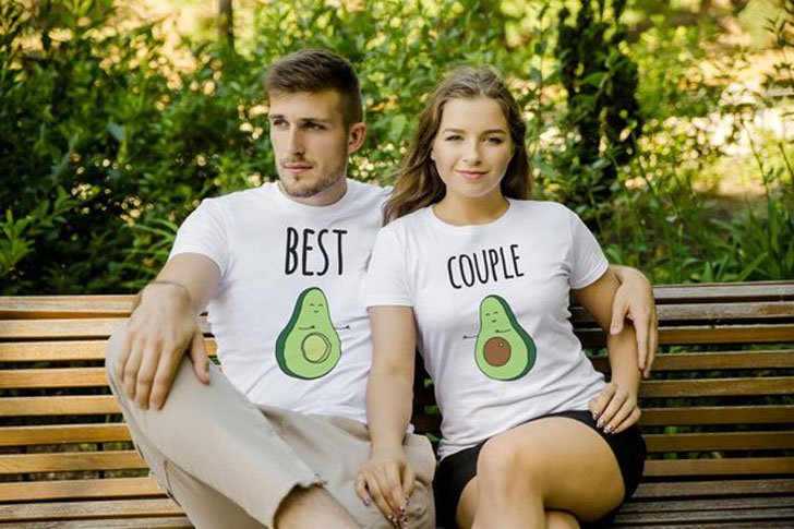 Couples Avocado Matching Tees