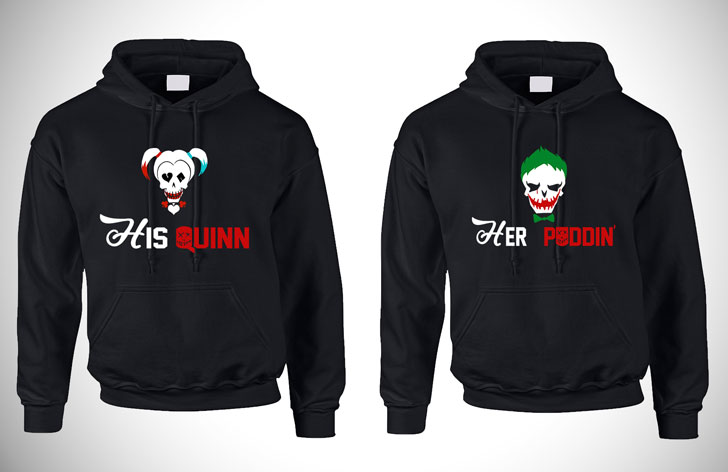 Couples Harley Quinn Hoodies