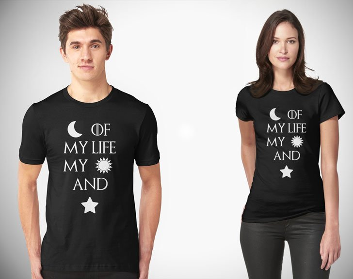 Couples Moon of My Life My Sun and Stars Shirts