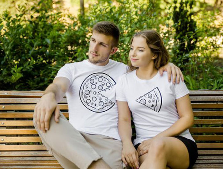 Couples Pizza Slice Shirts