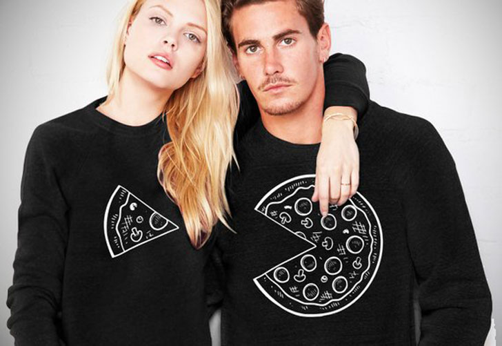 Couples Pizza Sweaters