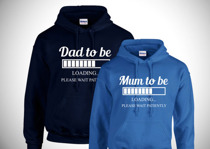 Couples Pregnancy Announcement Hoodies