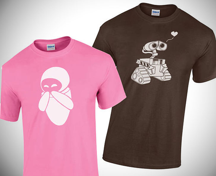 Couples Wall-E & Eva Matching T-Shirts